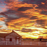 Country House Sunset Longmont Colorado Boulder County Poster