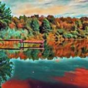 Country Lake Poster
