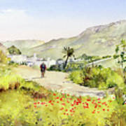 Country Lane In Spring Poster