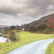 Country Lane In The Lakes Poster