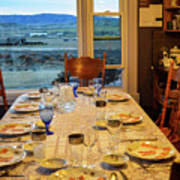 Country Table Setting Poster