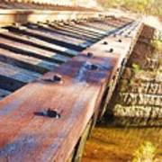 Country Train Trestle Poster