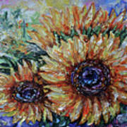Countryside Sunflowers Poster