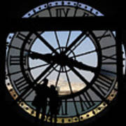 Couple And Clock D'orsay Museum Paris Poster