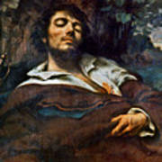 Courbet: Self-portrait Poster
