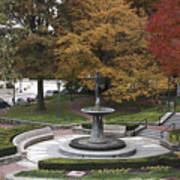 Courthouse Square In Rockville Maryland Poster