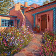 Courtyard Garden In Taos Poster