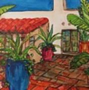 Courtyard in Rancho Santa Fe Poster