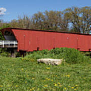 Covered Bridge Across The River Poster