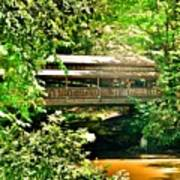 Covered Bridge At Lanterman's Mill Poster