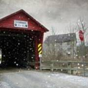 Covered Bridge In Logan Mills Poster