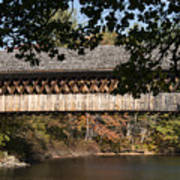 Covered Bridge Over The Contoocook River Poster