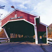 Covered Bridge Over The Ellis River Poster