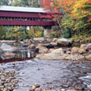Covered Bridge Over The Swift River  Poster