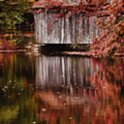Covered Bridge Reflection Poster
