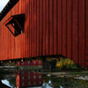 Covered Bridge Reflections Poster