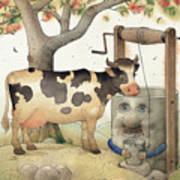 Cow and Well Poster