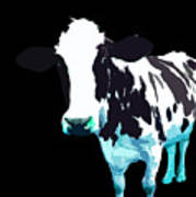 Cow In A Black World Poster