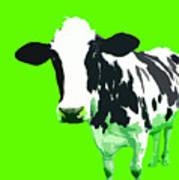 Cow In A Green World Poster