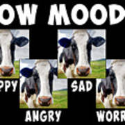 Cow Moods Poster