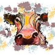 Cow Splotch Poster