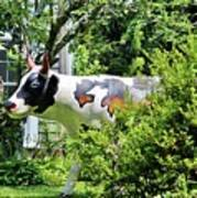 Cow Statue Poster