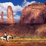Cowboy And Three Sisters Poster