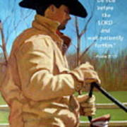 Cowboy In Pastel With Scripture Verse Poster