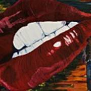 Cowboy Lips Poster