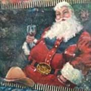 Cowboy Santa Poster