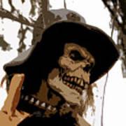 Cowboy Skeleton Poster