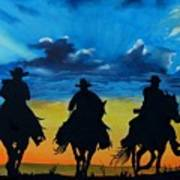 Cowboy  Sunset Poster by Stefon Marc Brown