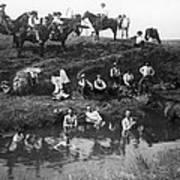 Cowboys Bathing Poster
