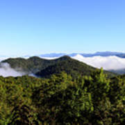 Cowee Overlook At Black Rock Mountain State Park Poster
