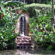 Coyaba Garden Ornamental Fountain Poster