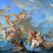 Coypel's The Abduction Of Europa Poster