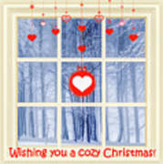 Cozy Christmas Card Poster