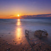 Crab Trap Sunset Le Poster
