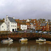 Crail Harbour Fife Poster