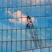 Crane Reflection - Atlantic City Poster