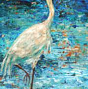 Crane Reflection Poster