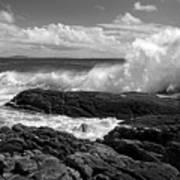 Crashing Wave Roundstone Ireland Poster