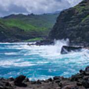 Crashing Waves - Nakalele Point  Poster