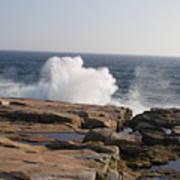 Crashing Waves On Maine Coast Rocks  Poster