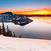 Crater Lake Dawn Poster