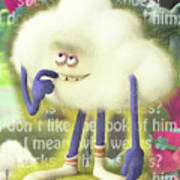 Crazy Cloud Guy. Poster