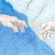 The Creation Hands Sistine Chapel Michelangelo Poster
