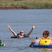 Creek Float Hands Poster