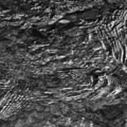 Creek Ripples B And W Poster