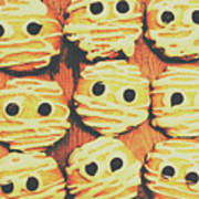 Creepy And Kooky Mummified Cookies  Poster